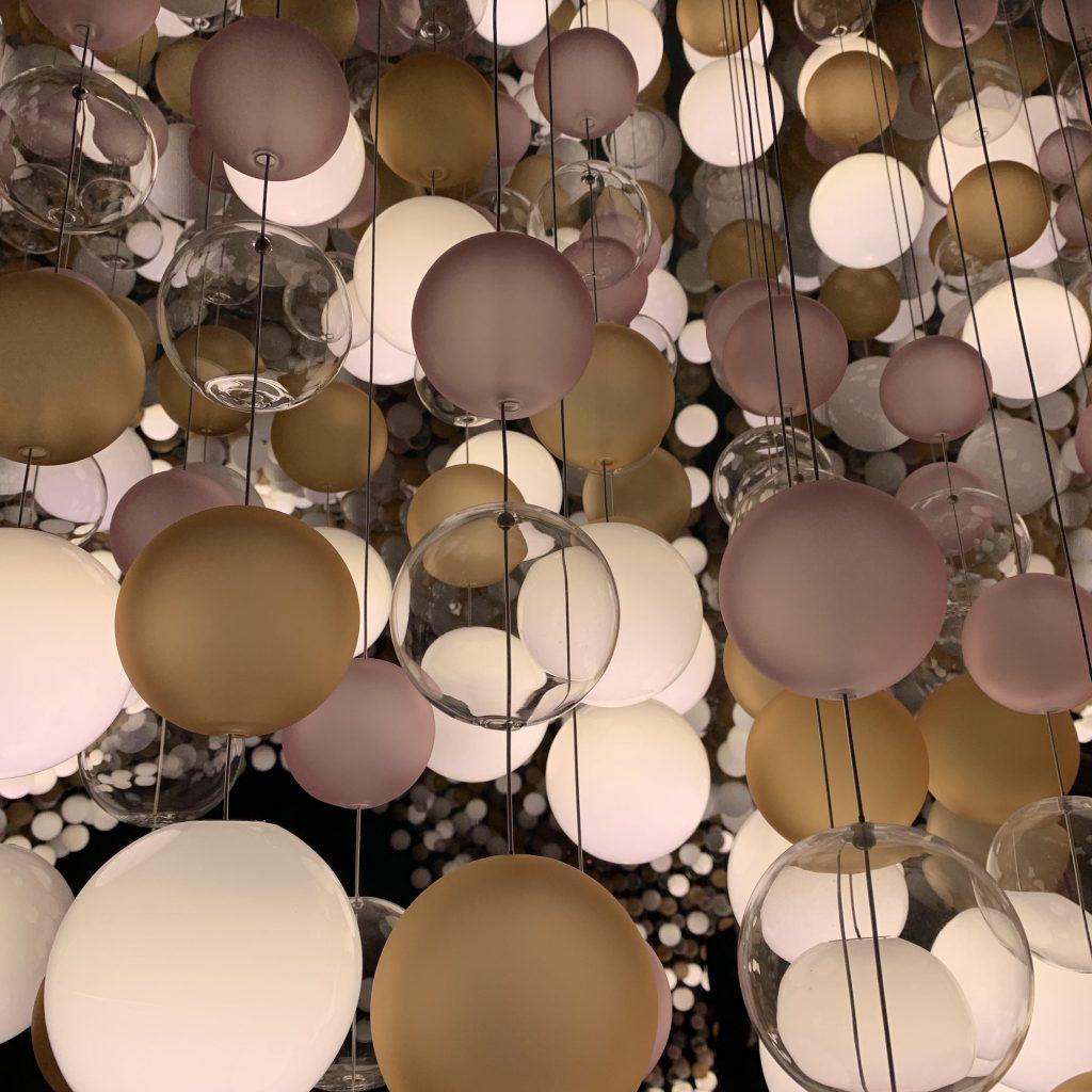 Coloured glass ball lights