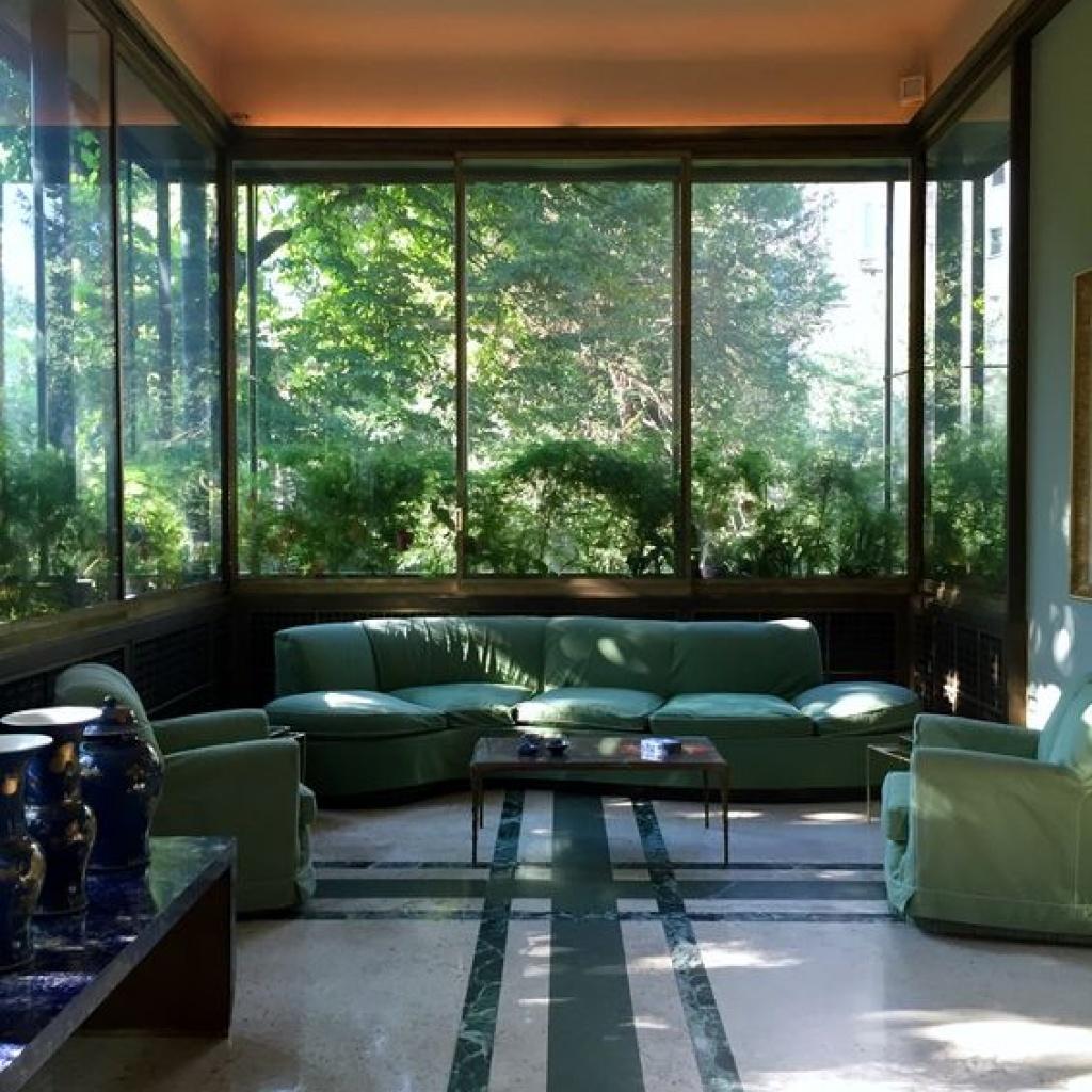Interior design of Villa Necchi in Milan
