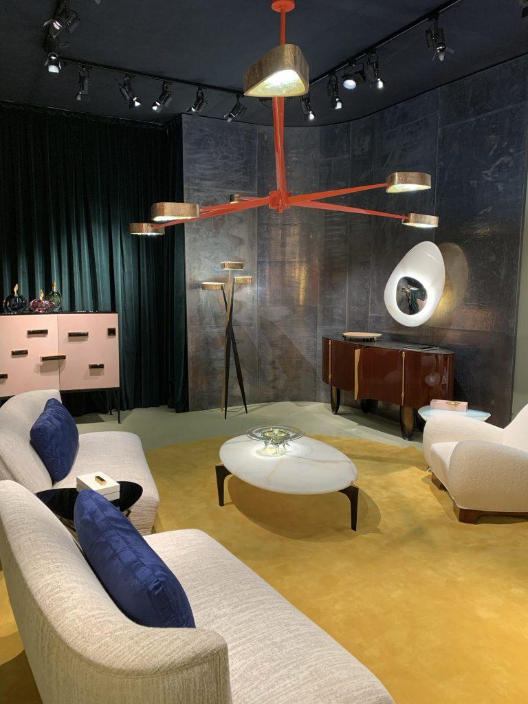 Interior design setting in London