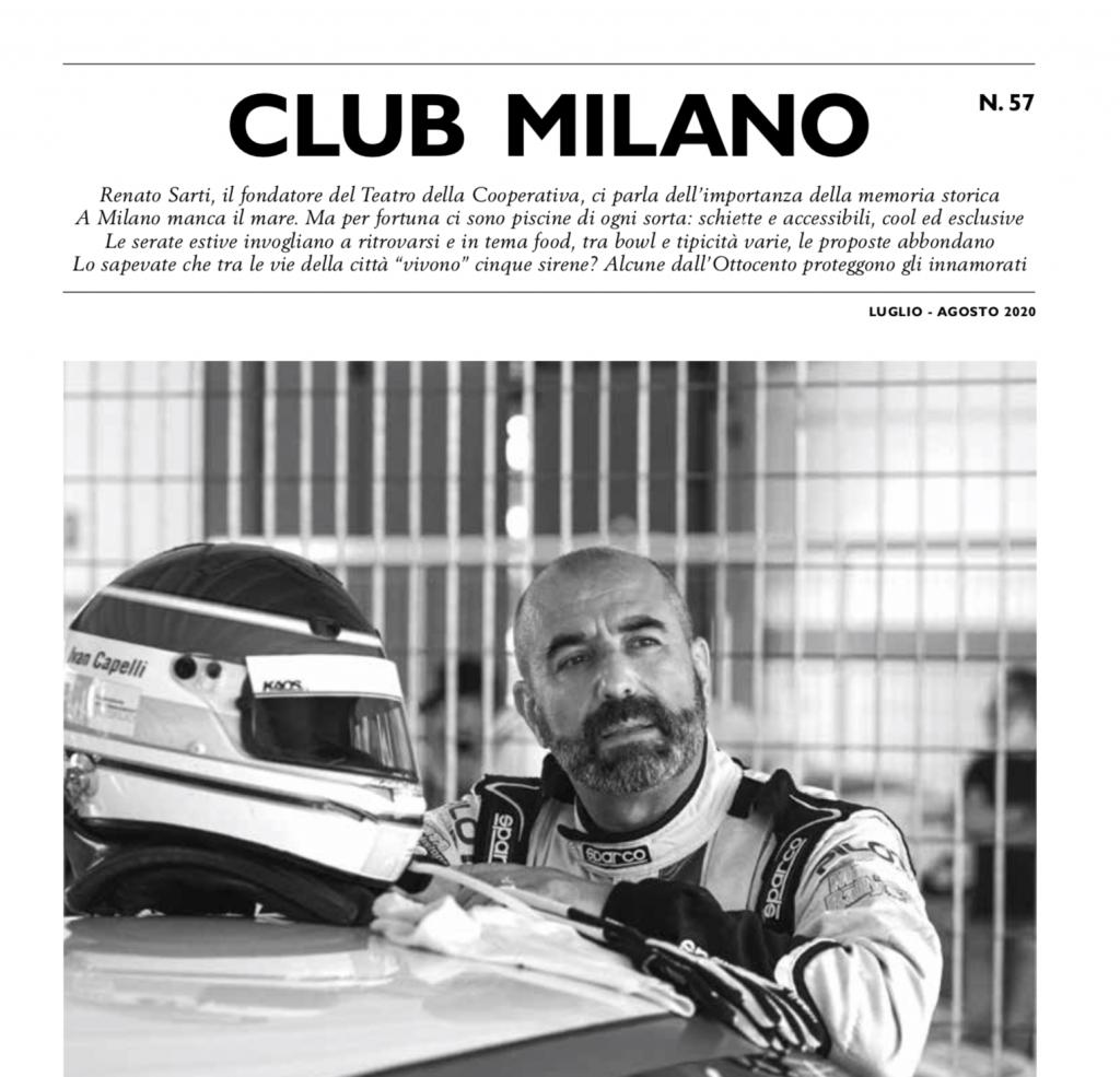 Club Milano Magazine Interior Cover