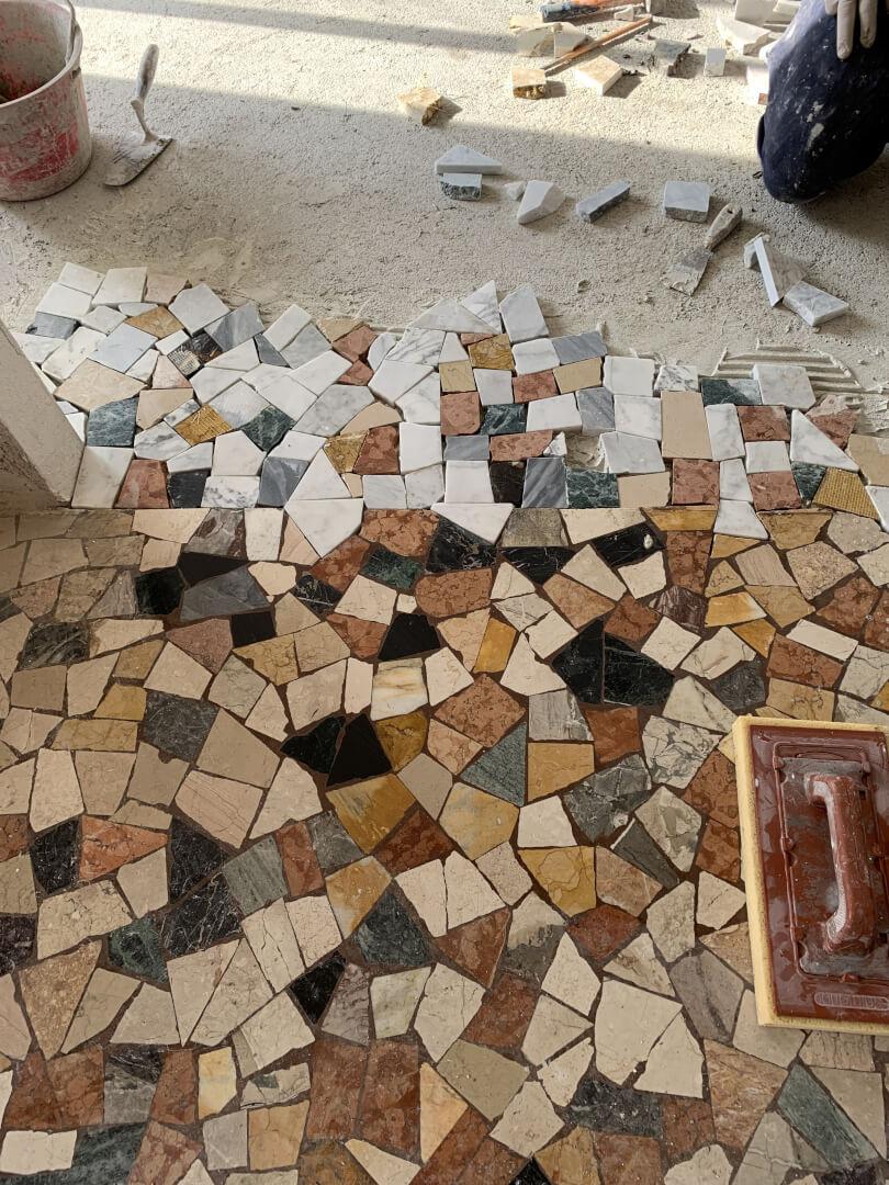 Coloured Marble Floor