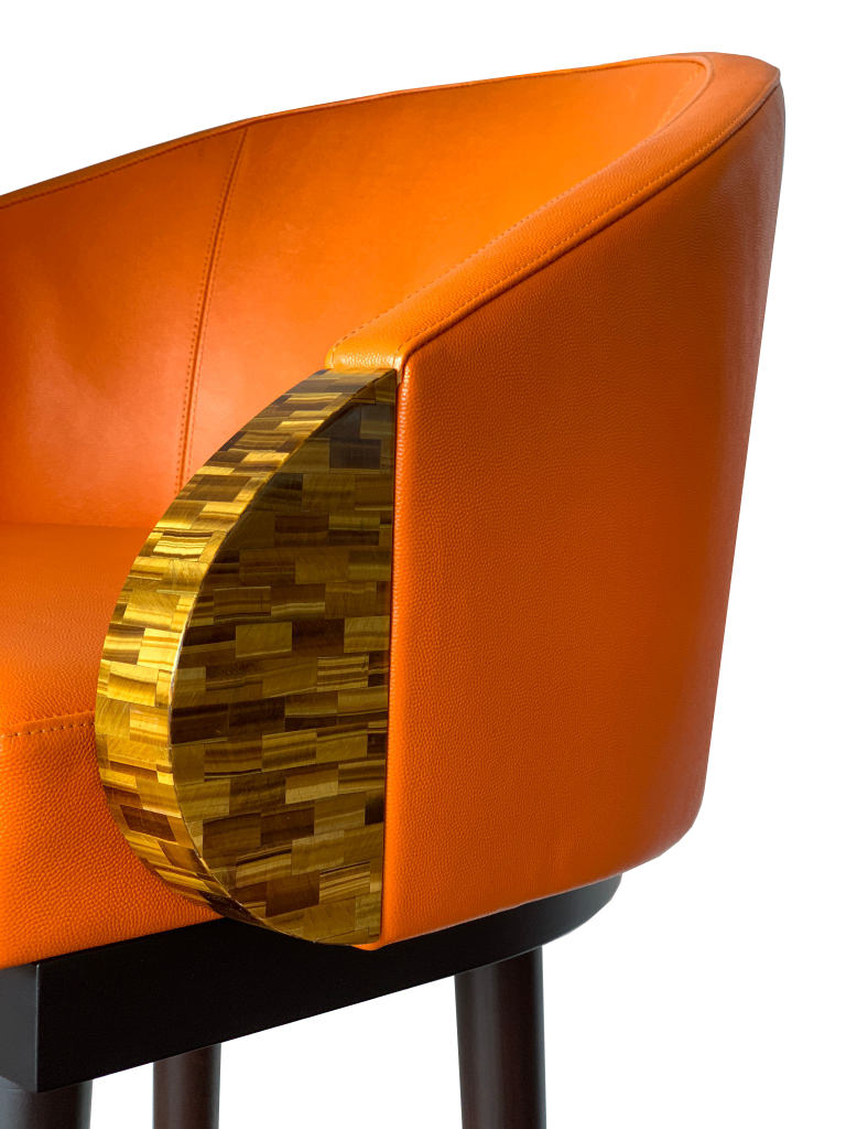Stool Leather Details